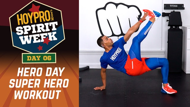 Day 06 - Super Hero Day - 30 Minute Hero Themed Workout - Spirit Week #01