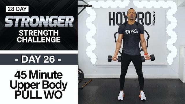 45 Minute EMOM Biceps, Back & Shoulders Workout - STRONGER #26