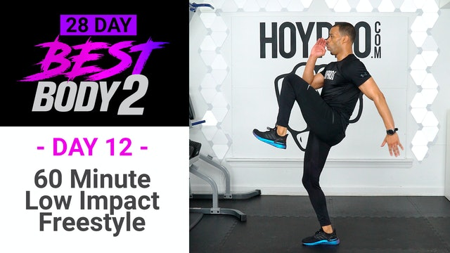 60 Minute Low Impact Freestyle Workout + Abs - Best Body 2 #12