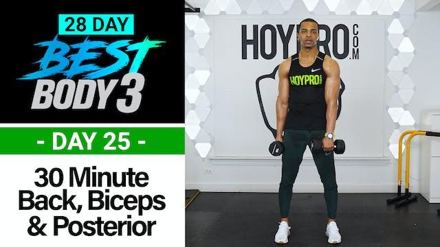 30 Minute Back, Biceps, Shoulders & Posterior Workout - Best Body 3 #25