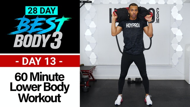 60 Minute Lower Body Plyo Strength Workout - Best Body 3 #13