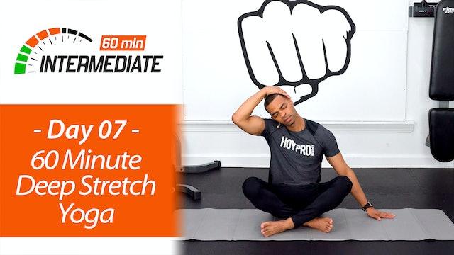 60 Minute Intermediate Deep Stretch & Recovery Yoga - Intermediate 60 #07