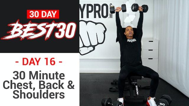 30 Minute Chest, Shoulders, Back & Tris Upper Body Workout - Best30 #16