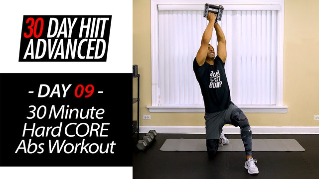 30 Minute Hard-CORE Abs Six-Pack Hybrid HIIT Workout - Advanced #09
