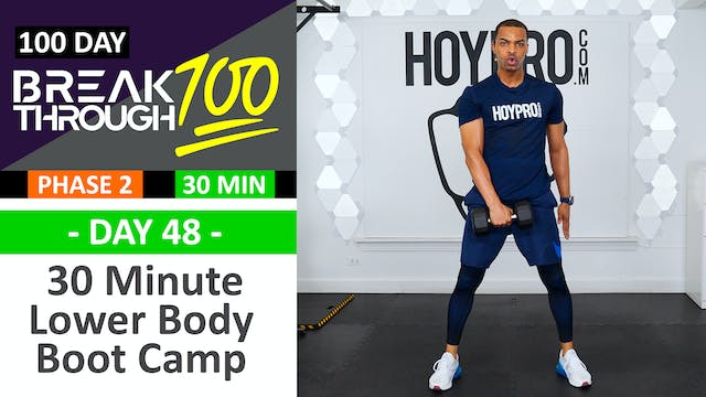 #48 - 30 Minute Lower Body Boot Camp ...