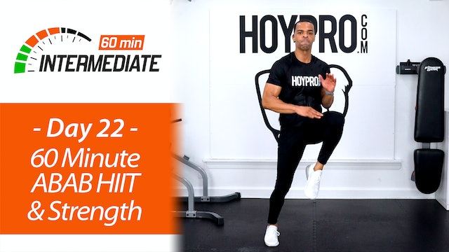 60 Minute ABAB HIIT & Strength Workout - Intermediate 60 #22