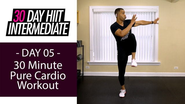 30 Minute Pure Cardio Running Workout - Intermediate #05