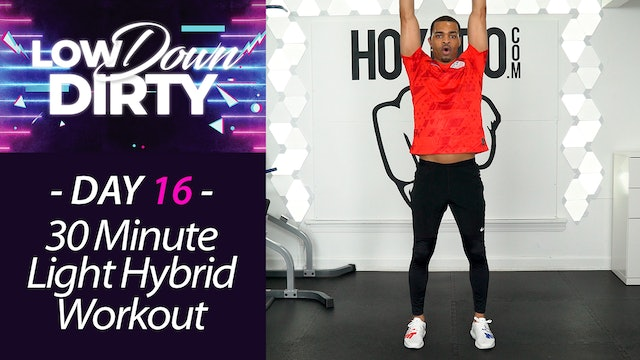 30 Minute DRILLS - Light Dumbbells Hybrid Low Impact Workout - Low Down #16