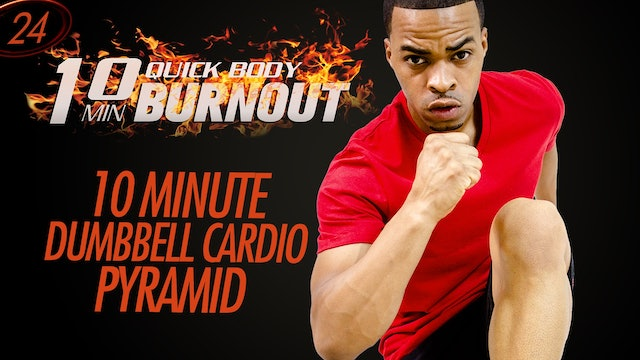 024 - 10 Minute Full Body Light Dumbbell Cardio HIIT Pyramid Workout