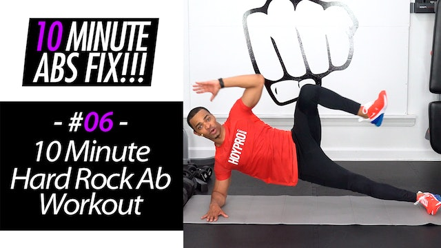 10 Minute Hard Rock Abs Workout - Abs Fix #006