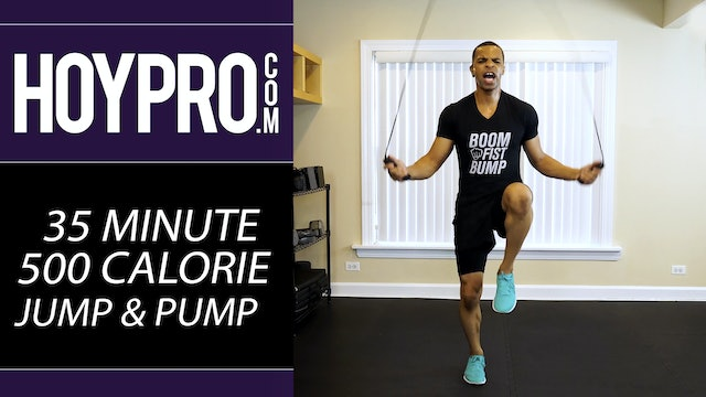 35 Minute 500 Calorie Jump Rope & Strength Workout