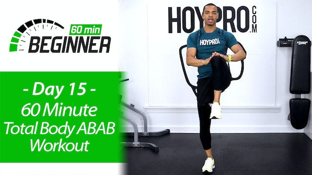 60 Minute Total Body ABAB Workout + Abs Workout - Beginners 60 #15