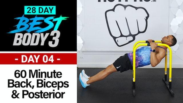 60 Minute Back, Biceps, Shoulders & Posterior Workout - Best Body 3 #04