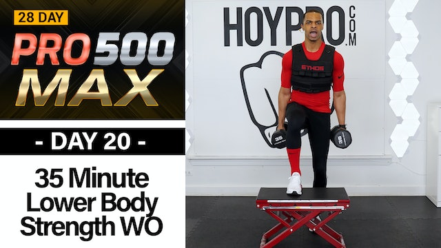 35 Minute Lower Body Plyo Strength Workout - PRO 500 MAX #20