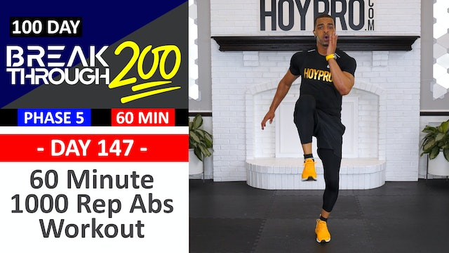 #147 - 60 Minute 1000 Rep Abs Workout - Breakthrough200