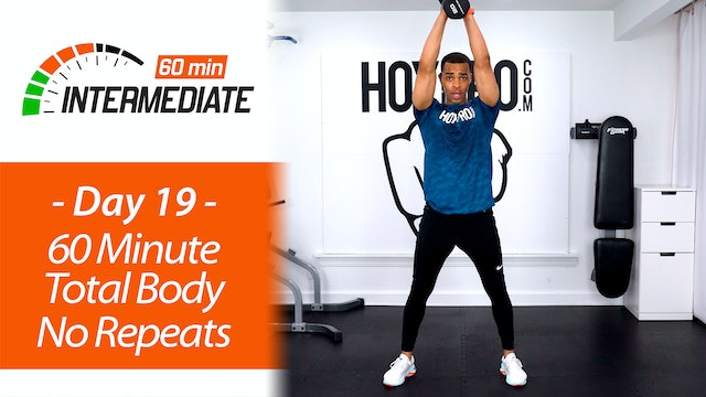 60 Minute Total Body No Repeat Hybrid Workout + Abs - Intermediate 60 #19