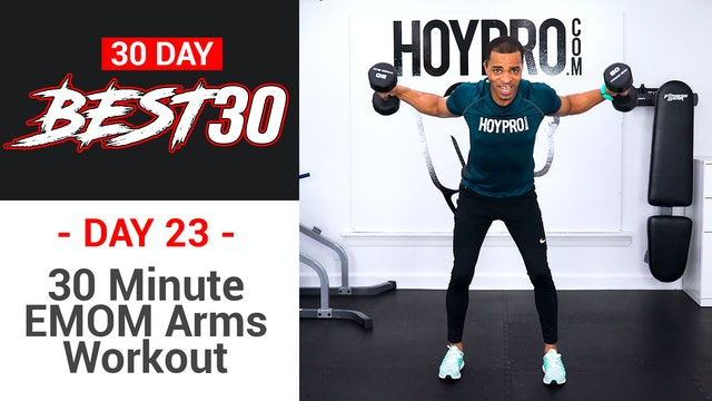 30 Minute EMOM Arms Upper Body Workout - Best30 #23
