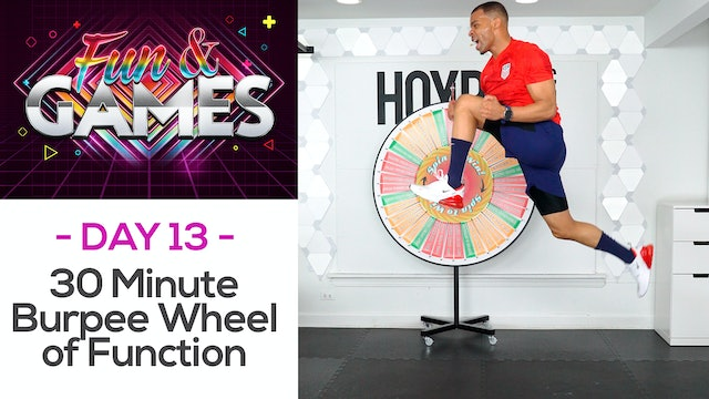 30 Minute ALL BURPEES Wheel of Function Workout - Fun & Games #18