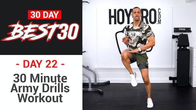 30 Minute Full Body Army Drills Workout - Best30 #22