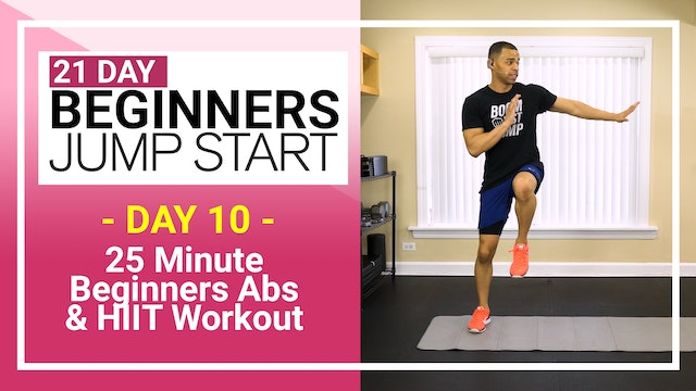 Day 10 - 25 Minute Beginners Abs & HIIT Workout