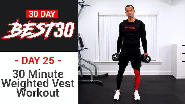30 Minute EXTREME Weighted Vest Workout - Best30 #25
