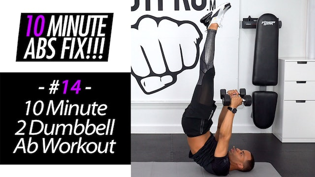 10 Minute Double Dumbbell Abs - Abs Fix #014