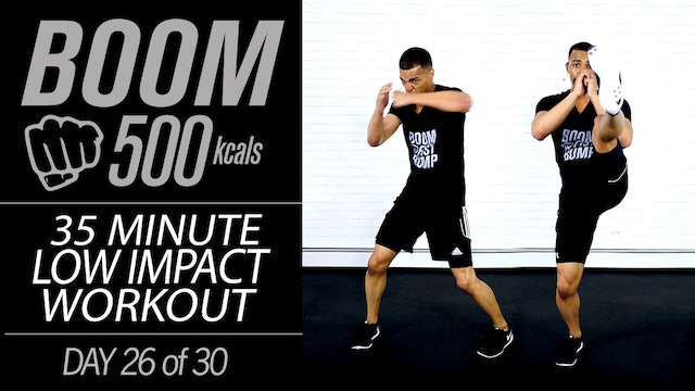 BOOM #26 - 35 Minute Low Impact Workout for Apartments