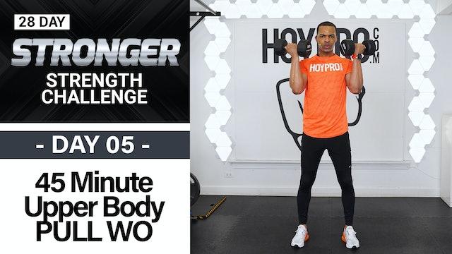 45 Minute Biceps, Back & Shoulders Workout - STRONGER #05