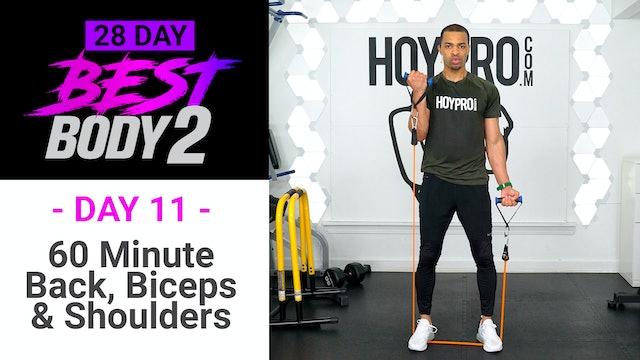 60 Minute Back, Biceps & Shoulders Upper Body Workout - Best Body 2 #11