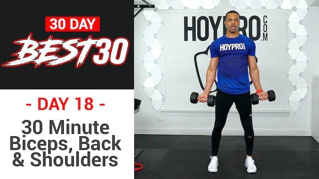 30 Minute Back Biceps & Shoulders Upper Body Workout - Best30 #18