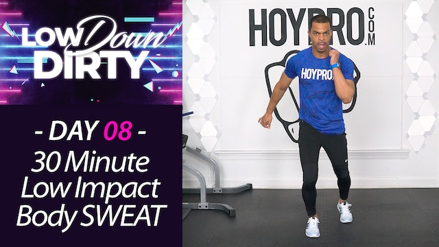 30 Minute SWEAT - Low Impact Cardio HIIT Workout - Low Down #08