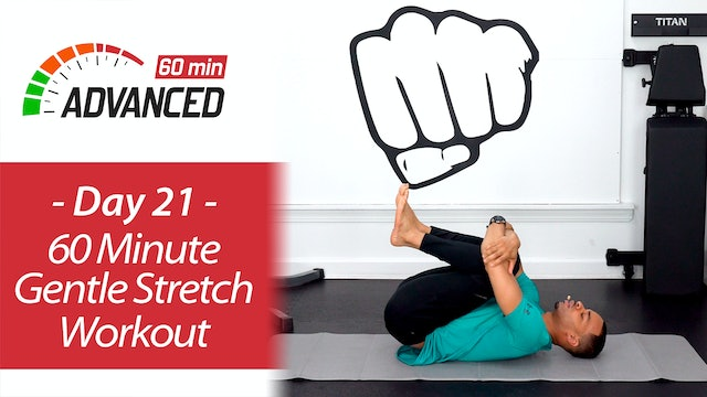 60 Minute Gentle Deep Stretch Yoga and Recovery - Advanced 60 #21