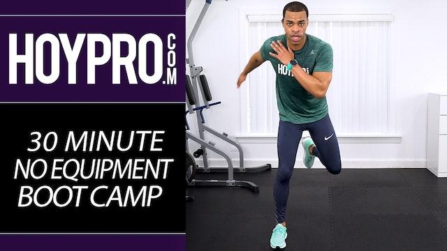30 Minute Bodyweight Boot Camp Drills Workout - No Equipment Sweatfest