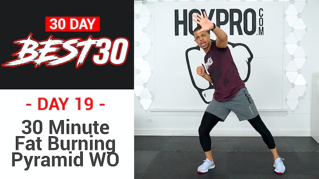 30 Minute Fat Burning Bodyweight Pyramid Workout - Best30 #19