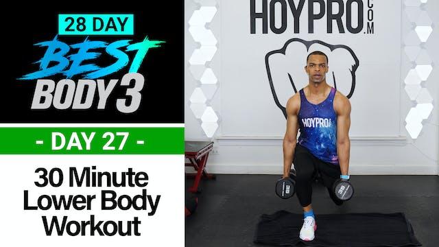 30 Minute Lower Body Plyo Strength Workout - Best Body 3 #27