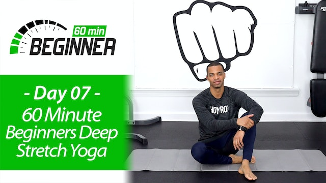 60 Minute Light Deep Stretch & Recovery Yoga - Beginners 60 #07