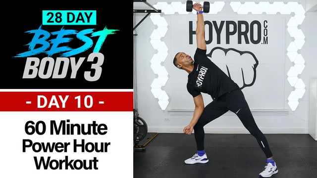 60 Minute Power Hour HIIT & Strength Workout - Best Body #10