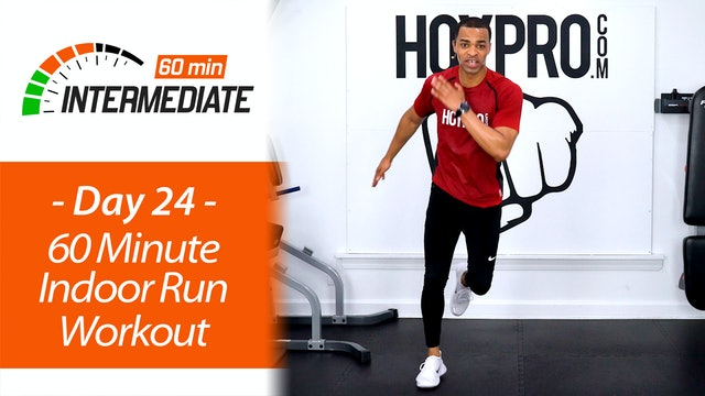 60 Minute Indoor Running Workout w/ Abs - Intermediate 60 #24