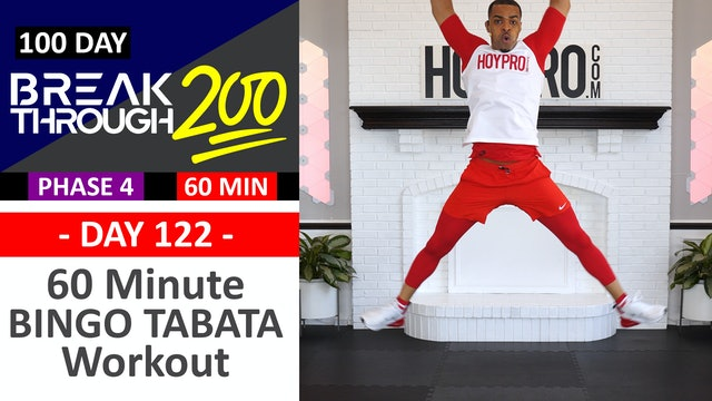 #122 - 60 Minute Tabata BINGO Stacked Sets + Abs - Breakthrough200