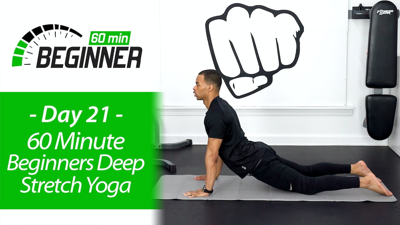 60 Minute Light Deep Stretch Recovery Yoga Beginners 60 21 28 Day 60 Minute Beginners Challenge Millionaire Hoy Pro
