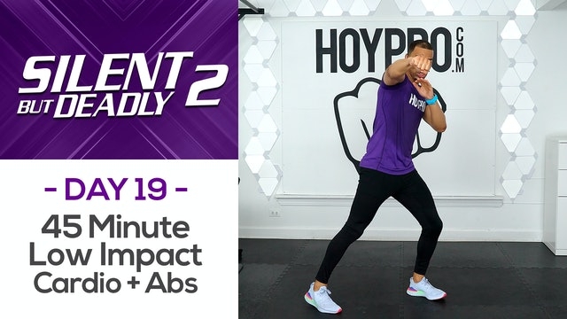45 Minute Low Impact Pure Cardio Circuits + Abs - SBD2 #19