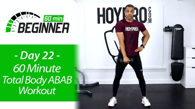 60 Minute Total Body ABAB Workout + Abs Workout - Beginners 60 #22