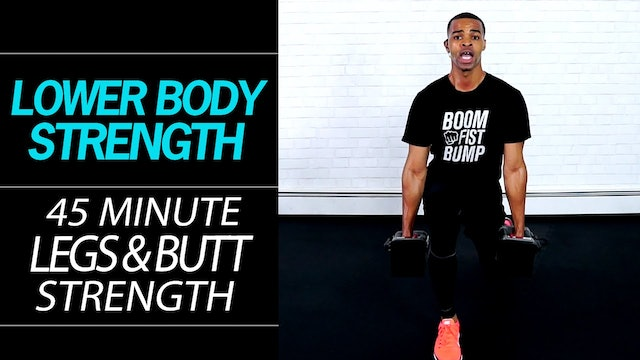 45 Minute Total Legs DESTROYER!!! Lower Body Strength Workout for Toned Legs