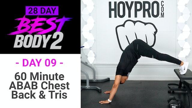60 Minute ABAB Chest, Shoulders & Back Upper Body Workout - Best Body 2 #09
