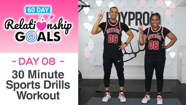 30 Minute TEAMWORK - Sports Drills Workout - Relationship Goals #08