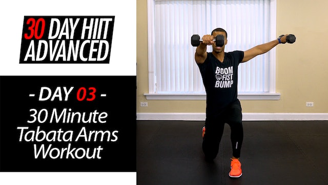 30 Minute Tabata Arms Upper Body Workout - Advanced #03