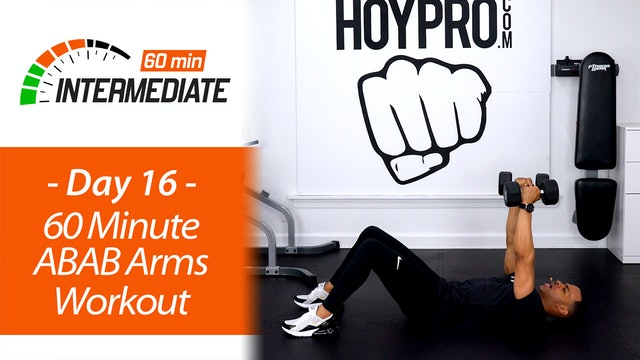 60 Minute ABAB Upper Body Workout - Intermediate 60 #16