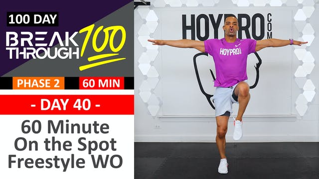 #40 - 60 Minute Pure Cardio Sweat Fest Workout + Abs - Breakthrough100
