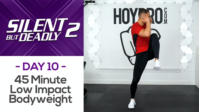 45 Minute Bodyweight Low Impact Workout + Abs - SBD2 #10