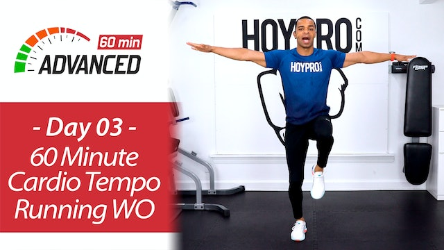60 Minute Cardio Tempo Indoor Running Workout + Abs - Advanced 60 #03